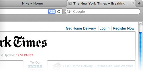 Tabs on top ala Google's Chrome